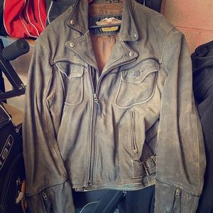 Harley leather riding jacket